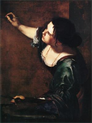 Self portrait as the allegory of painting by artemisia gentileschi